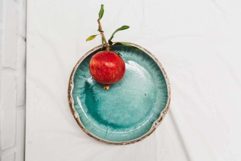 Vintage Mid Century California Pottery Style in Earth Tone + Gorgeous Turquoise