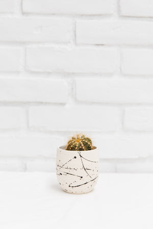 Splatter Ceramic Tumbler Pot