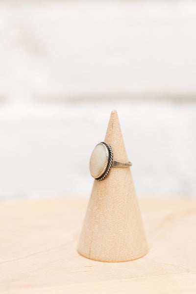 Native American Made Mother of Pearl + Silver Ring