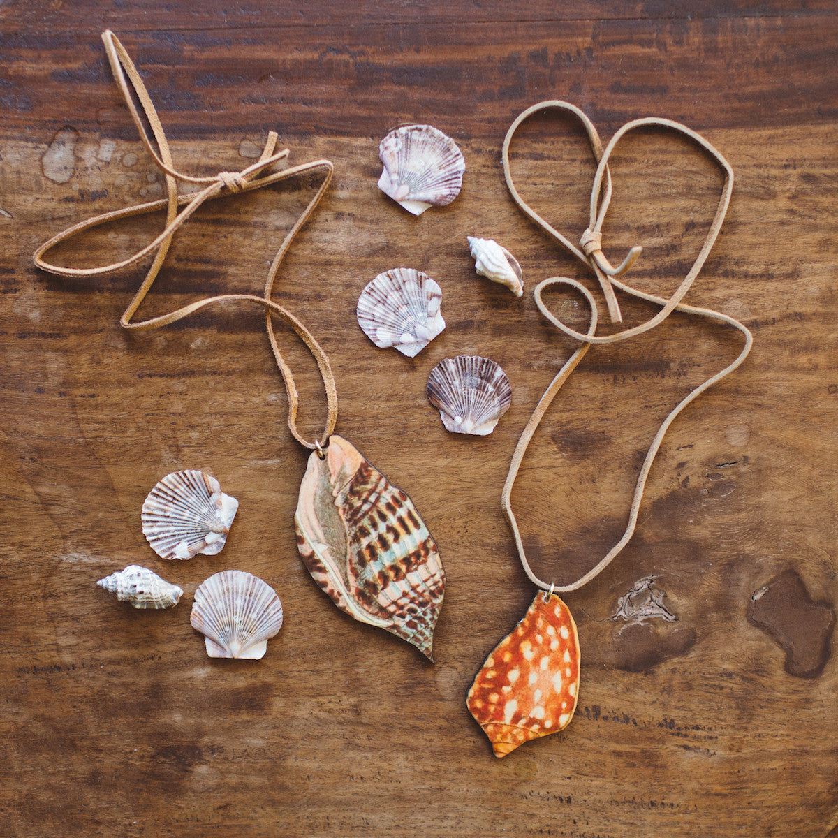 Handmade Seashell Print Necklace