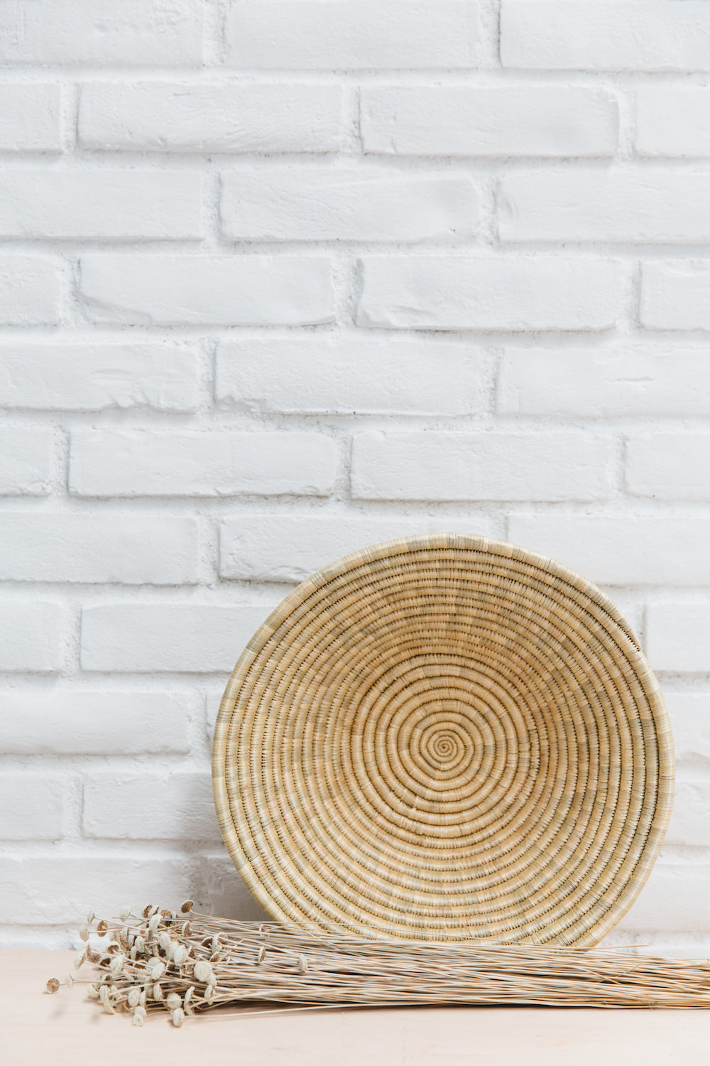 African Handmade Round Table Basket