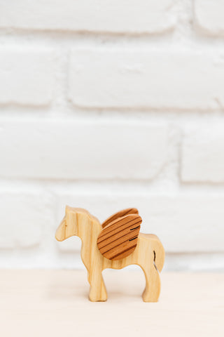 Wooden Winged Pegasus | Natural Non-Toxic Toy