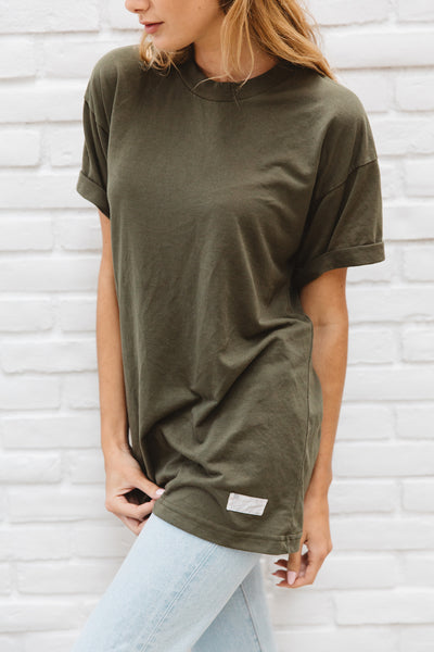 Vintage Army Green Super Soft Tee