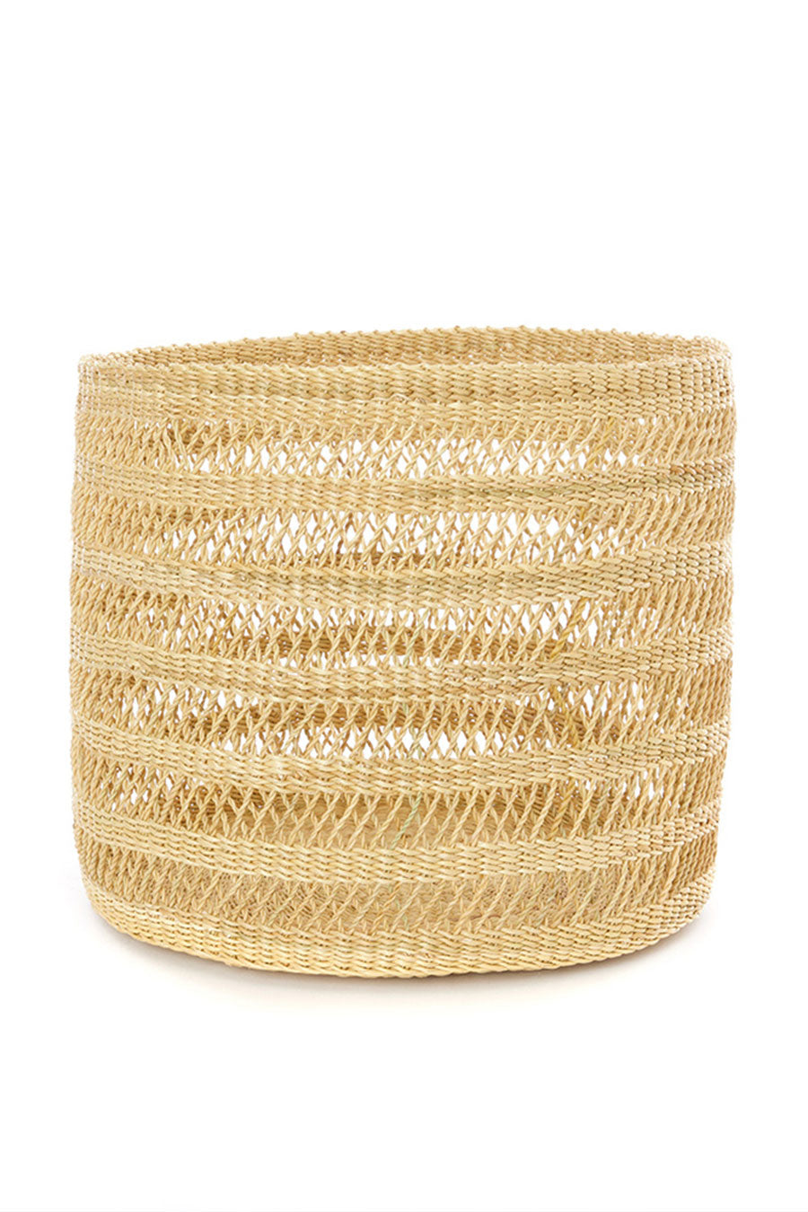 Stevie Basket / African Handmade Lace Weave Accent Basket