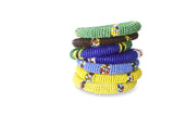 WOVEN & BEADED AFRICAN BRACELETS FROM SOUTH AFRICA