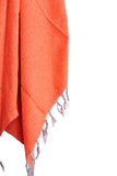THE THALIA: BRIGHT NEON ORANGE SOLID MEXICAN BLANKET