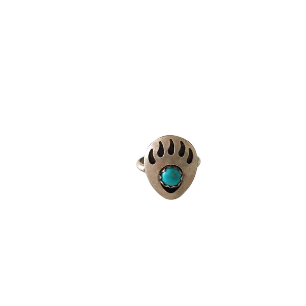 Vintage Turquoise & Silver Baby or Toddler Rings