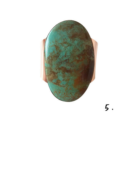 THE COBRE: NATIVE AMERICAN NAVAJO MADE COPPER & TURQUOISE BRACELETS