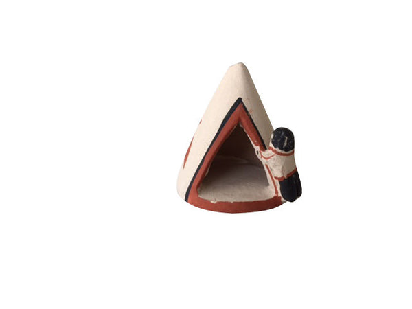 Mini Teepee | Authentic Native American Made Acoma Pottery from New Mexico
