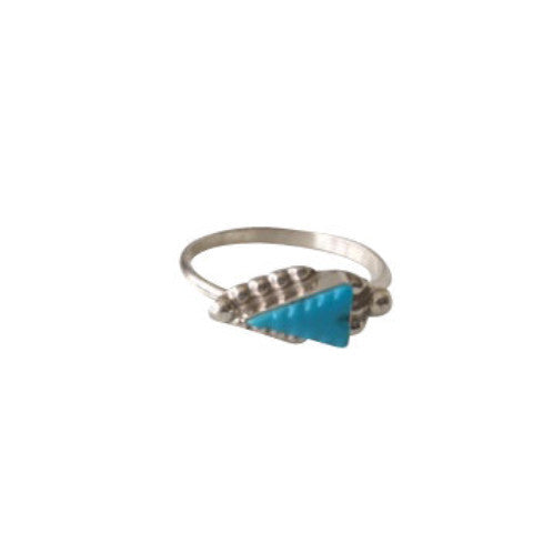 Dainty Turquoise & Silver Stack or Midi Rings