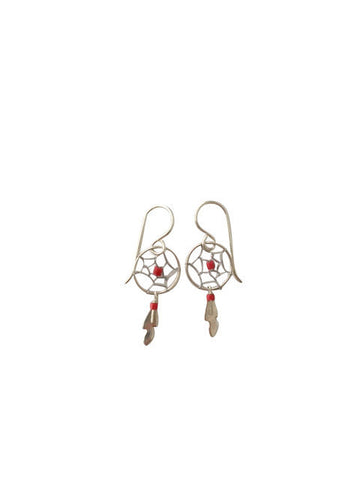 BEADED DREAMCATCHER EARRINGS
