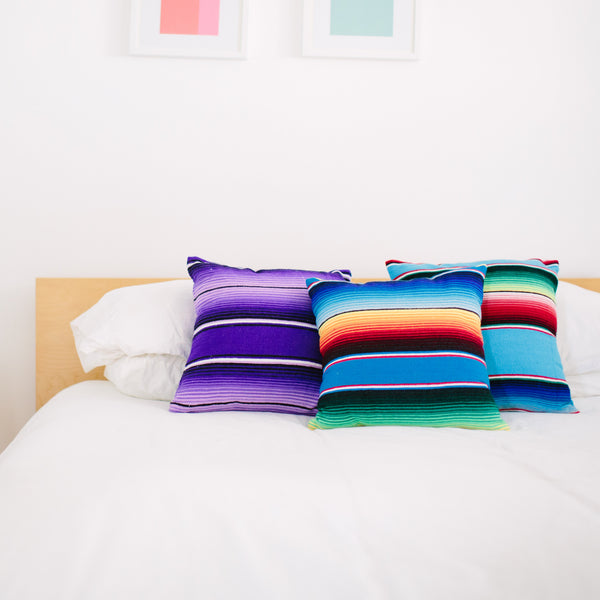 SERAPE FIESTA PILLOWS - Purple Only
