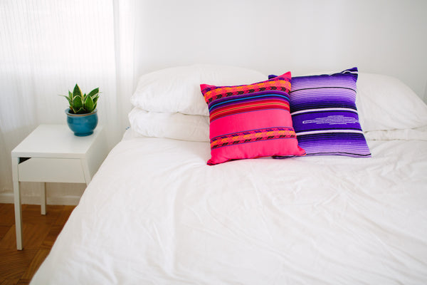 THE CHICAMA: HOT PINK PERUVIAN PILLOWS