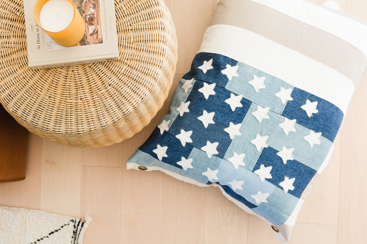 Land of Liberty Flag + Floor Pillow | Old Sandy Stripe
