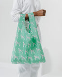 Reusable Pastel Mint Dalmatian Tote Bag