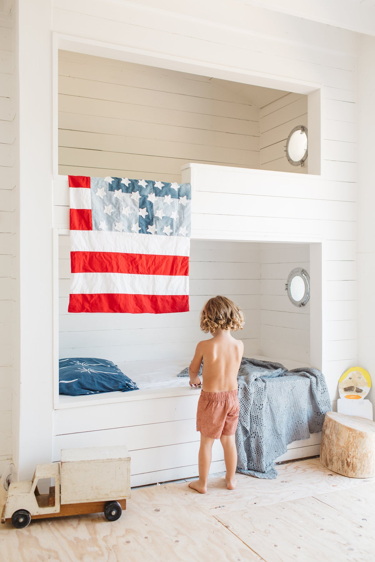Land of Liberty Flag + Floor Pillow | Old Glory Red