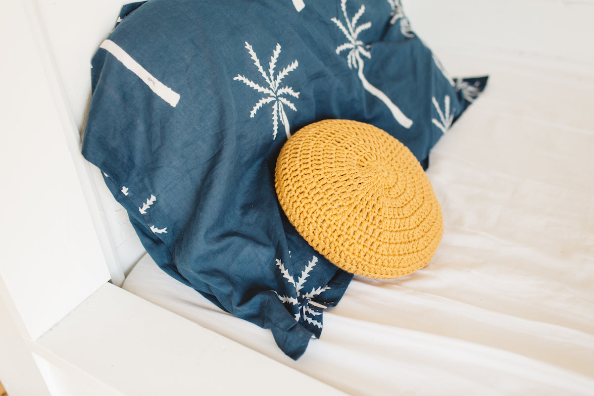 Handmade Round Crochet Pillow