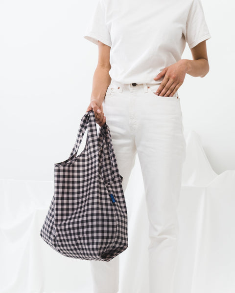 Reusable Tote Bag | Blush Gingham