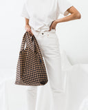 Reusable Tote Bag | Copper Gingham