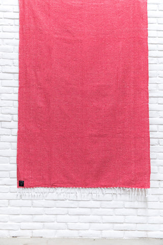 THE AIRLIE: Neon Hot Pink Solid Mexican Blanket