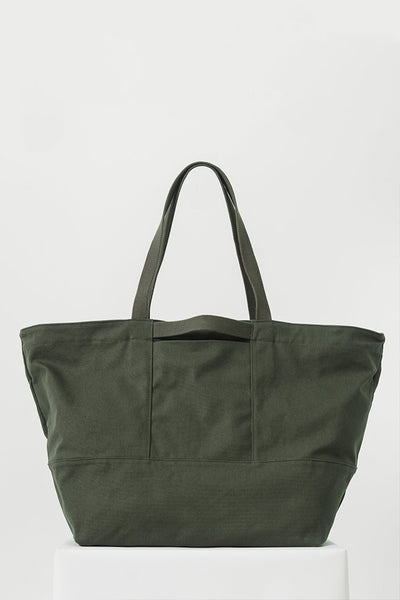 Army Green Canvas Weekend Bag