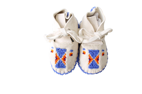 ONE OF A KIND NATIVE AMERICAN-MADE BABY MOCCASINS
