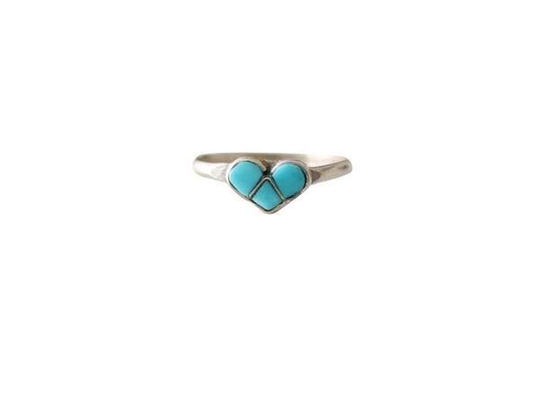 Dainty Turquoise & Silver Baby, Toddler or Midi Rings