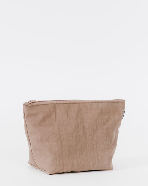 Fawn Nylon Neutral Earth Tone Carry All Pouch