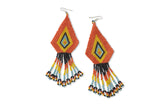 NATIVE AMERICAN NAVAJO MADE BEADED EARRINGS