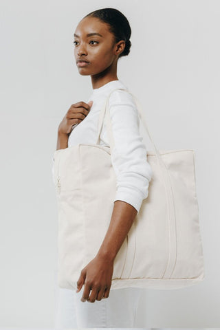 Natural Canvas Safari Travel Tote Bag