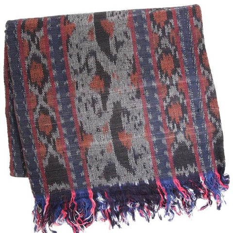 CLEOBELLA BURGUNDY IKAT THROW