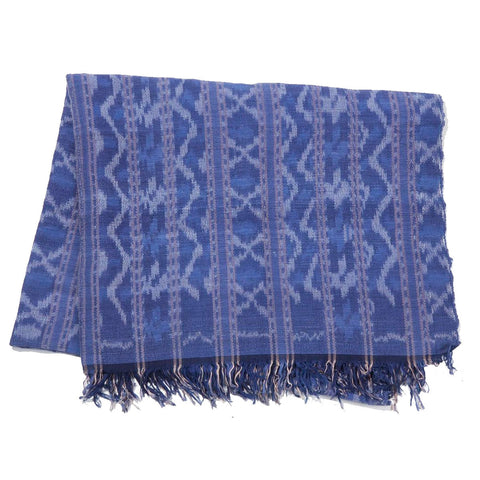 CLEOBELLA NAVY BLUE IKAT THROW