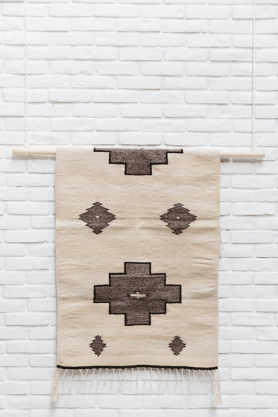 The Adriana: Neutral-Colored Handwoven South American Geometric Rug