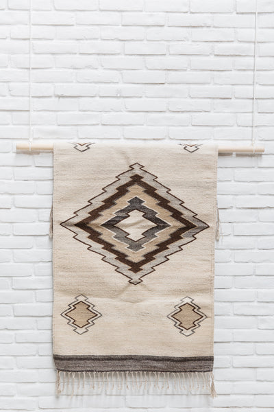 The Santiago: Neutral-Colored Handwoven South American Geometric Rug