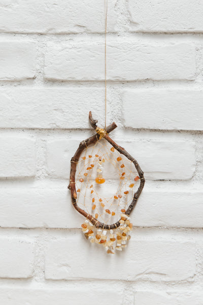 Authentic Native American-Made Dreamcatcher With Delicate Beading