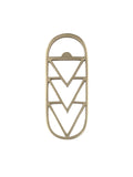 Brass Geometric Bottle Opener