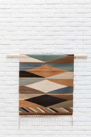 The Montaña: Bold Earth Tone Handwoven South American Geometric Rug
