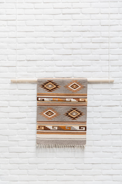 The Sebastián: Neutral-Colored Handwoven South American Geometric Rug