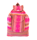 THE OLYMPIA: VINTAGE 90s STYLE HANDWOVEN MEXICAN BACKPACK - BLACK ONLY