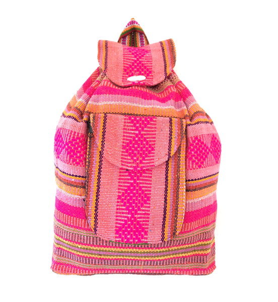 THE OLYMPIA: VINTAGE 90s STYLE HANDWOVEN MEXICAN BACKPACK