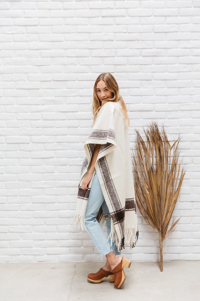 The Cabo: Wool Cape / Poncho