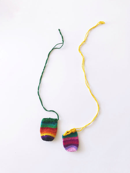 Guatemalan Woven Pocket / Bucket Necklaces