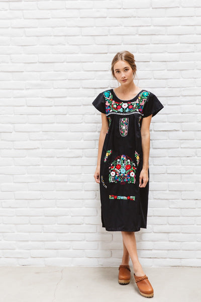 El Sol: Bright Colored Vintage Style Mexican Women's Dress