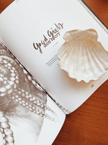 Large Handmade Ceramic Seashell Dish | White