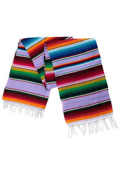 THE ISLET: Lavender Purple Mexican Serape / Saltillo Blanket