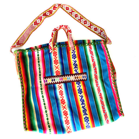 OUR OPEN ROAD COLLECTION: EXTRA LARGE PERUVIAN VINTAGE TEXTILE SHOULDER BAG