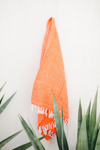 Beijos x G&S | Coral Sands: Hot Orange Mexican Blanket