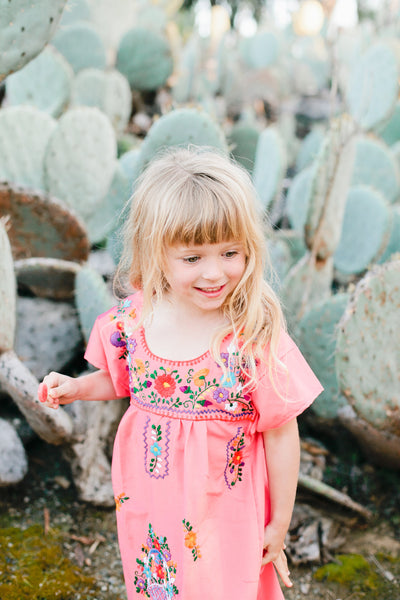 The Amorcito Dress: Bright Colored Mexican Children's Dress