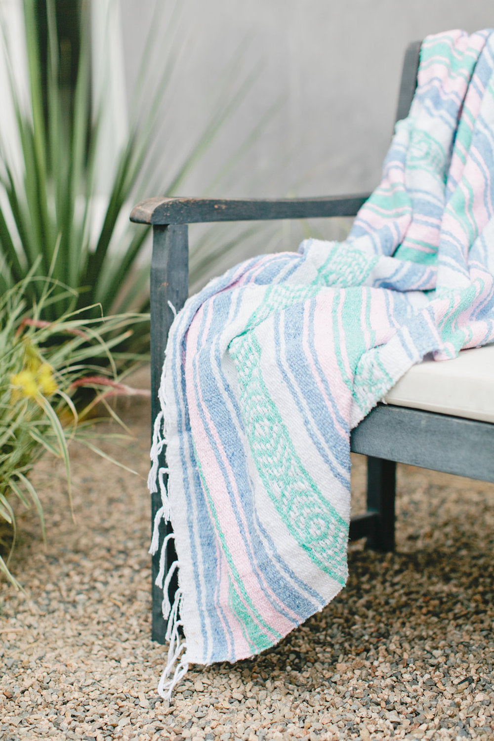 Beijos x G&S | Azores: Pastel Pink, Blue and Mint Mexican Blanket