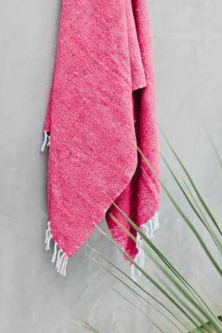 Beijos x G&S | Lagos: Solid Pink Mexican Blanket